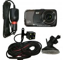 Видеорегистратор 1080-metal с камерой заднего вида