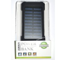 Power bank Solar 419 6000mAh, 2USB, фонарик, солн. Панель