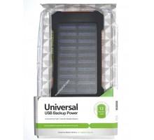 Power bank Solar 422 6000mAh, 2USB, фонарик, солн. панель