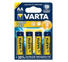Батарейки Varta - Long Life Alkaline AA LR6 1.5V 4шт