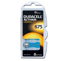 Батарейки Duracell - 675 PR44 Hearing Aid 1.45V 6шт