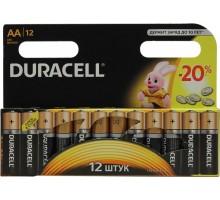 Батарейки Duracell - Basic alkaline MN1500 AA LR6 1.5V 12шт