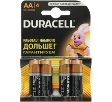 Батарейки Duracell - Basic alkaline MN1500 AA LR6 1.5V 4шт