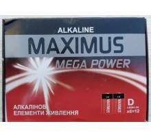 Батарейка Maximus Alkaline D LR20 1,5V алкалиновая, 12шт.