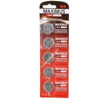 Батарейка Maximus CR2032 3V lithium, блистер, 5шт.