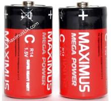 Батарейка Maximus Super Heavy Duty C R14 1,5V солевая, 24шт.