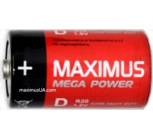 Батарейка Maximus Super Heavy Duty D R20 1,5V солевая, 24шт.