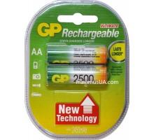 Аккумулятор GP AA HR6 2500mAh, 2шт.
