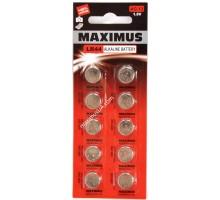 Батарейка Maximus AG13 LR44 1,5V алкалиновая, 10шт.