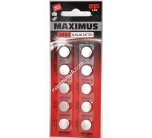 Батарейка Maximus AG10 LR54 1,5V алкалиновая, 10шт.