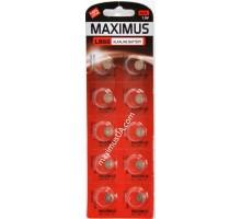 Батарейка Maximus AG1 LR60 1,5V алкалиновая, 10шт.