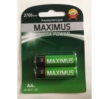 Аккумулятор NiMh Maximus HR6 AA 1.2V 2700mAh, блистер