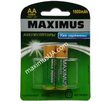 Аккумулятор NiMh Maximus HR6 AA 1.2V 1800mAh, блистер