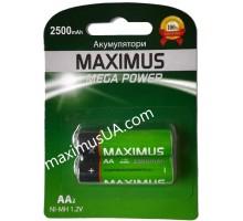Аккумулятор NiMh Maximus HR6 AA 1.2V 2500mAh, блистер