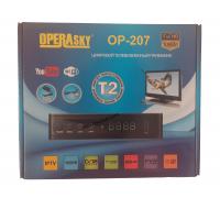 Цифровой ТВ ресивер DVB-T2 OperaSky OP-207 с дисплеем