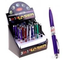 Фонарь-лазер 601 Ручка 3 в 1