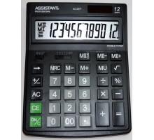 Калькулятор Assistant AC-2377, 12-разрядный, 2ное питание