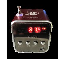 Колонка TD-V26 +USB флешка, SD/TF карта, радио, minijack