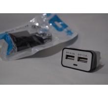 Сетевое зарядное устройство 321 на 2 USB (2 и 1А)