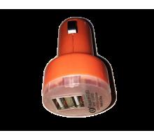 АЗУ 359 USB адаптер 2A переходник на 2 гнезда
